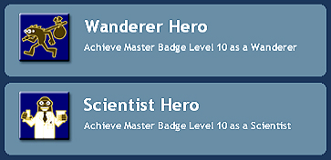 Spore Wanderer Hero and Scientist Hero achievements